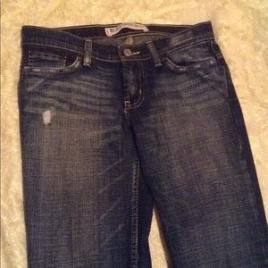 Express Jeans - Express Precision Fit Distressed Low-Rise Jeans.